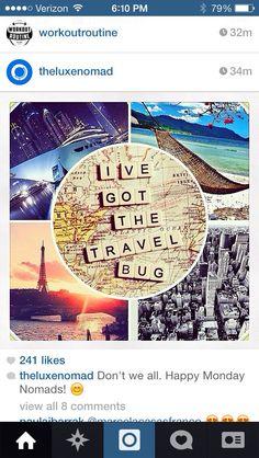 I've got the travel bug. #wanderlust