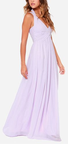 Lavender bridesmaid dress