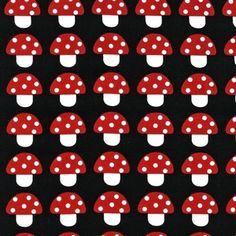 Ann Kelle - Woodland Pals - Mushrooms in Black