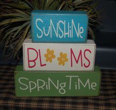 4 x 4 woods scraps for seasonal decor: springtime