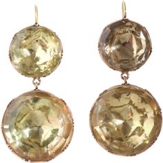Olivia Collings Antique Jewelry Double Foiled Citrine Earrings ($13,795) ❤ liked on Polyvore