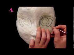 Shaping face for pinatas part 4 (making Elsa's hair) - YouTube