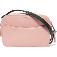 Rochas Claudine crystal-embellished leather shoulder bag (26,965 PHP) ❤ liked on Polyvore featuring bags, handbags, shoulder bags, pastel pink, zip shoulder bag, pink shoulder bag, pink handbags, shoulder bag purse and leather shoulder handbags