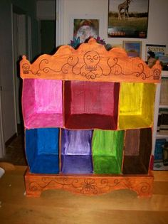 A version made of sturdy wood boxes painted bright colors would be nice.