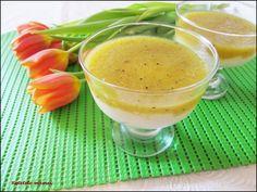 Griș cu lapte și jeleu de kiwi Kiwi, Cantaloupe, Fruit, Food, Essen, Meals, Yemek, Eten