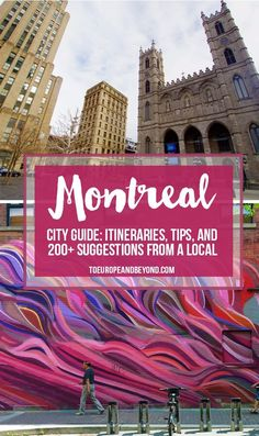 Whether you're visiting Montreal for the first or the hundredth time, this insightful guide will take you to places locals like me hold in high regards. toeuropeandbeyond... #travel #Montreal
