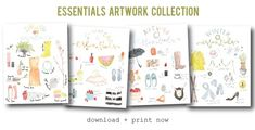 spring essentials (freebie art print)