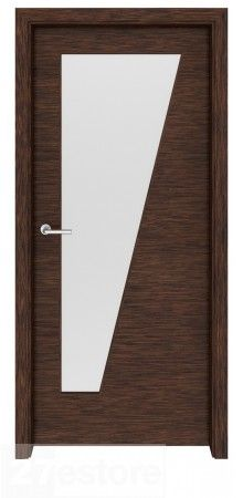 With its dark walnut wood veneer and sleek lines, this glass interior door is a modern take on the office doors of the mid century. In this design, a large rectangular pane of glass dominates the top of the door, while the rest is covered in beautiful ven Walnut Doors, Wood Doors, Door Design Interior, Interior Doors, Dark Doors, Modern Door, Dark Walnut, Panel Doors, Wood Veneer