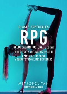 A partir del 30 enero y durante todo el mes de febrero realizaremos clases especiales de Reeducación Postural Global. Te esperamos los lunes 8:30h.  y los  miércoles 13:30h. en Metropolitan Romareda.