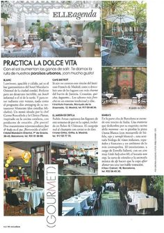 Bimba's en la Agenda Elle interiorismo By Estrella Salietti