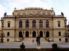 The Rudolfinum Prague, Czech Republic, at Jan Palach Square on the bank of the river Vltava. Charles Garnier, Oslo Opera House, Walt Disney Concert Hall, Prague Czech Republic, National Theatre, Four Seasons Hotel, Central Europe, Adventure Is Out There, Amazing Architecture