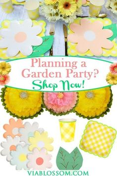 Absolutely gorgeous Garden party supplies for a Girl Birthday Party!! If you are planning a birthday party for your girl, look no further! We have everything you'll need! #gardenpartyideas #girlbirthdayparty #flowerpartyideas #springpartyideas #summerpa Fun Party Themes, Birthday Party Themes, Girl Birthday, Party Ideas, Flower Birthday, Unicorn Birthday, Birthday Ideas, Girls Tea Party, Tea Parties