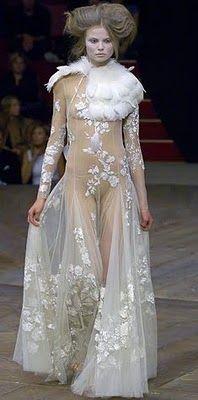 white goth dress