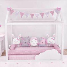 Kit montessoriano rosa: atmosfera lúdica no quarto das meninas