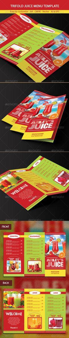 Trifold Drinks Menu Template #design Download: http://graphicriver.net/item/trifold-drinks-menu-template/6321530?ref=ksioks