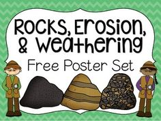 this FREE poster set! Use it to help your students remember key information about the types of rocks, erosion, & weatheringEnjoy this FREE poster set! Use it to help your students remember key information about the types of rocks, erosion, & weathering Rock Science, Earth Science Lessons, Fourth Grade Science, Earth And Space Science, Middle School Science, Elementary Science, Science Classroom, Teaching Science, Science Education