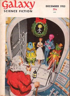 Galaxy Science Fiction, Dec 1952 cover art by EMSH.
