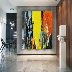 Contemporary Art Original Painting Abstract. Large Abstract   Etsy
