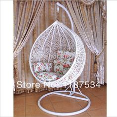 ball chair on sale at reasonable prices, buy Rocking rattan chair hanging ball chair ball chair modern hammocks patio swings chair swinging stage hanging basket from mobile site on Aliexpress Now! Bedroom Decor For Teen Girls, Cute Bedroom Ideas, Cute Room Decor, Teen Room Decor, Room Design Bedroom, Girl Bedroom Designs, Home Room Design, Home Decor Bedroom, Hanging Egg Chair