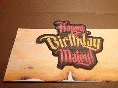 Inside Pirate Birthday Card