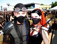 #Cybergoth Couple at WGT