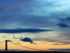 Sky and Bridge over the Tagus River (Rio Tejo), Photo credits by Helena Simões da Costa © 2015 (in Lisboa) http://helenasimoesdacosta.wix.com/helencostafotografia #sky #clouds #sunset