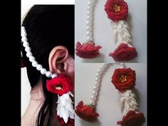 diy how to make fresh flowers jewelry Flower Tiara, Flower Earrings, Rose Jewelry, Bridal Jewelry, Jewelry Accessories, Flower Jewellery For Mehndi, Fancy Dress Competition, Bridal Mehndi Designs, Real Flowers