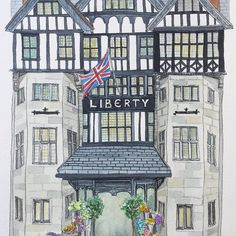 """Added to visit list! Liberty london @libertylondon #MyLiberty #libertylondon #vscocam #vsco #instadaily #vscodaily #liveauthentic #illustration #illust…"" - Thanks to @kathysojuhouse"