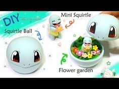 [Diy mini Squirtle in Squirtle Ball] 꽃밭에는~ 꽃을든 꼬북! 꼬부기볼 만들기 - YouTube
