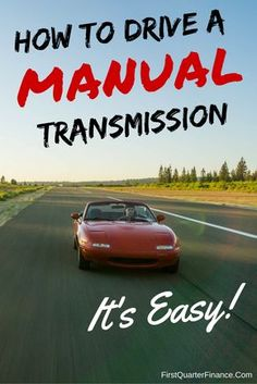 Want to learn how to drive a car with a manual transmission? Here's a step-by-step guide to teach you! Get all the benefits of driving a manual car. Learn Car Driving, Learn Drive, Drive A, Driving School, Car Learning, Learning To Drive, Driving Stick Shift, Driving Tips For Beginners, New Drivers