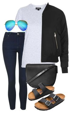"""""""Untitled #2356"""" by oliviaswardrobe ❤ liked on Polyvore featuring Topshop, Victoria Beckham and Birkenstock"""