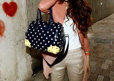 Splurge  Polka Dot Shoulder Messenger Handbag