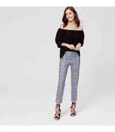 """Because sunny style should always be easy, our Riviera pants make every day a getaway. Your perfect fit if your hips are proportionate to your waist. Zip fly with hook-and-bar closure. Belt loops. Front and back welt pockets. Slits at outer cuffs. 26"""" inseam."""