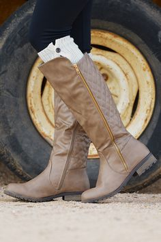 Never Look Back Boots - Taupe from Closet Candy Boutique