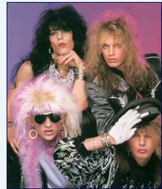 "To top our list of 80s hair         bands is none other than Motley Crue. They had us ""Smoking in the Boys         Room"" in '85 and in 1987 they introduced us to the ""Wild Side"" some of us         never knew existed. Motley Crue truly sang the rebellious anthems of the         '80s.                 Motley Crue t-shirtsDef Leppard. THIS IS NOT MOTLEY CRUE!  THIS IS POISON!"