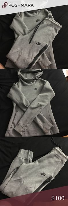 48a5b451ef07 Gray Nike tech sweat suit Hoodie is a XSmall and pants are a Small