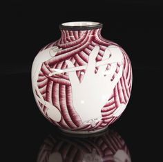 Gio Ponti - Vaso modello 5913 in ceramica smaltata. Prod. Richard Ginori, 1930