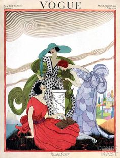 Vogue Covers by Helen Dryden Art Deco Fashion Illustrator...Vogue 1921