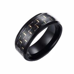 Wedding Ring - Black Carbon Fiber 8mm