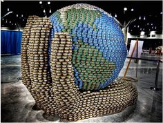 Canstruction... He's got the whole wide world in his hands!