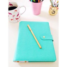 Bright Turquoise Planner #Desk #Accessories #Office
