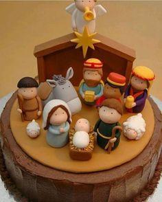 Terminando o dia com esse bolo lindo Presépio, adorei! #regram @fiestaguapa ✨✨ Boa Noite ✨✨ #kikidsparty