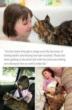 Cat Helps Autistic Kid With Anxiety Issues I love that cats..animals...are so intuitive.