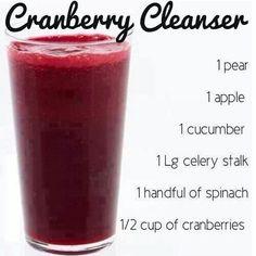 Cranberry Cleanser Juice Recipe.