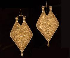 Pair of Gujarat Earrings (Panddi) Saurashtra, Gujarat, Northwest India