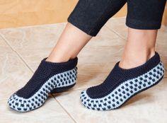 Knitted Slipper Socks Hand Made Slippers by HannaKnitsPassion
