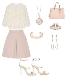 """Untitled #1569"" by jamierountree1 ❤ liked on Polyvore featuring Sophia Webster, Burberry, Alexander McQueen, MICHAEL Michael Kors, Eva Fehren, Effy Jewelry and Leith"
