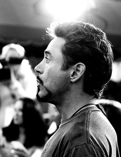 """Robert Downey Jr. (and his perfect profile) as Tony Stark in """"Avengers: Age of Ultron"""""""
