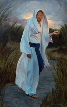 Lead Kindly Light by Richard Lance Russell | Jesus is the Christ | Latter Day Saint | Church of Jesus Christ | Faith | Come Follow Me | Well Within Her | Hope | LDS Artwork | Faith in Jesus Christ | Christian Artwork | Come Unto Christ #wellwithinher #sharegoodness #comefollowme #lds #faith #hope #ldsart #jesuschrist #faithinchrist Jesus Christ Painting, Jesus Art, Lead Kindly Light, Images Of Christ, Christian Artwork, Lds Art, Jesus Pictures, Light Of The World, Traditional Paintings