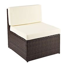 Rattan Modular Corner Sofa Set Garden Conservatory Furniture 5 To 9 Pcs INCLUDES GARDEN FURNITURE COVER (Extra Middle Sofa, Brown)